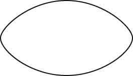 Forma dei Ricciarelli di Siena 93 mm per 53 mm circa
