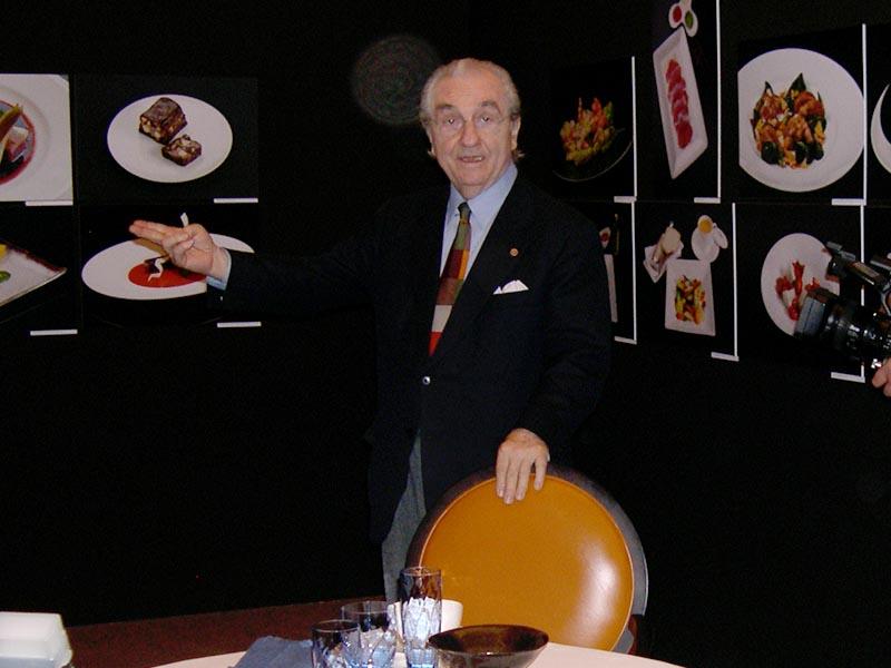 Gualtiero Marchesi in mostra al Castello Sforzesco di Milano, 2010