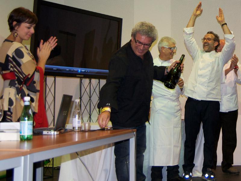 Massimo Bottura a Identità Golose con Igles Corelli