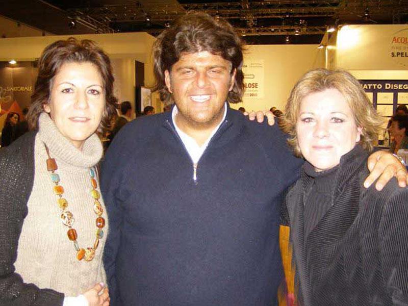 Ilario Vinciguerra con Nicoletta e Federica Spelta