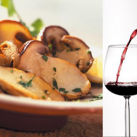 Abbinamento vino funghi