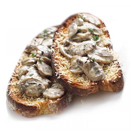 Bruschette con funghi Champignon