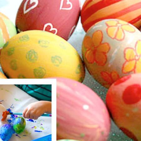 Colorare e decorare le uova di Pasqua
