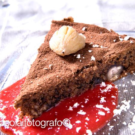 Torta al cacao con castagne