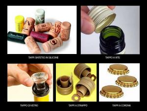 Varietà di tappi da vino