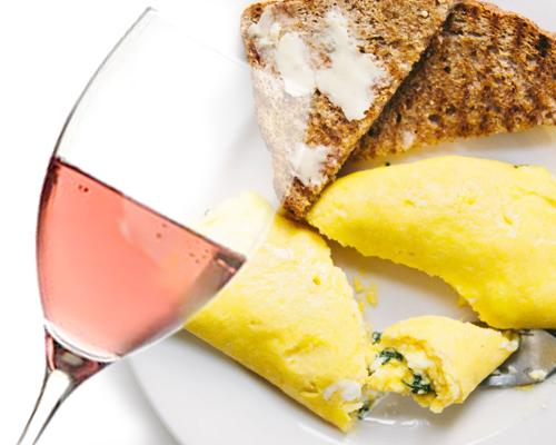 Abbinamento vino e uova