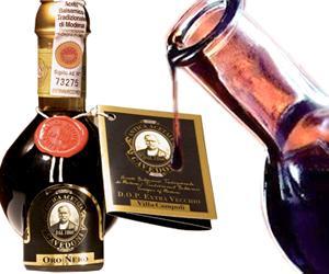 Bottiglia di aceto balsamico tradizionale DOP