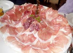 Culatello al ristorante Al Vèdel