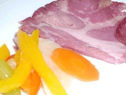 Spalla cotta tiepida con mostarda di verdure croccanti