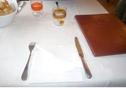 Tavola al ristorante Al Vèdel