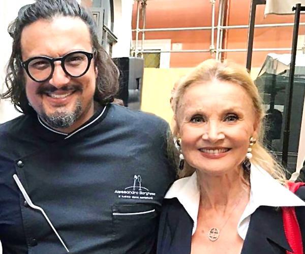 Alessandro Borghese e Barbara Bouchet