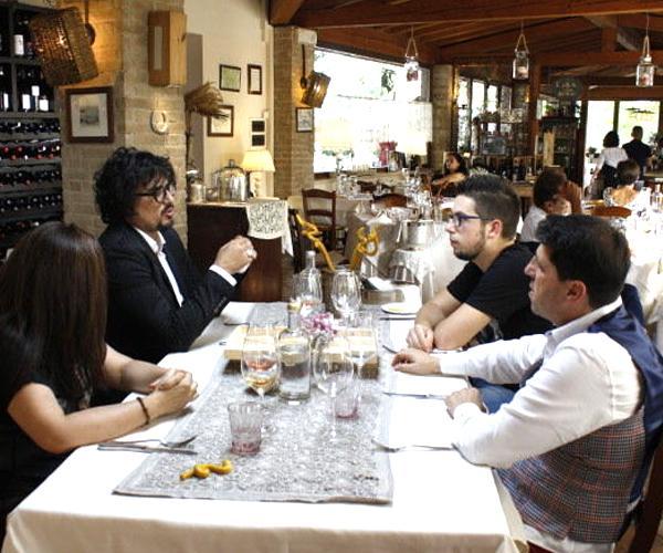 Alessandro Borghese al ristorante Dalie e fagioli