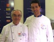 Alessandro Circiello con Gualtiero Marchesi