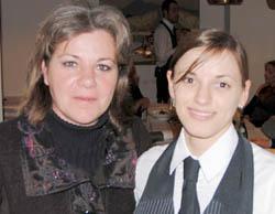 Federica Spelta (Alimentipedia) e Alessandra (sommelier)