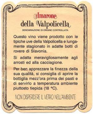 Etichetta Amarone