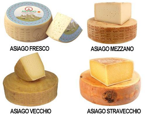 Varietà di formaggio Asiago DOP