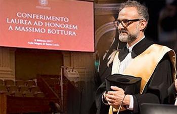 Febbraio 2017. Laurea ad Honorem a M. Bottura