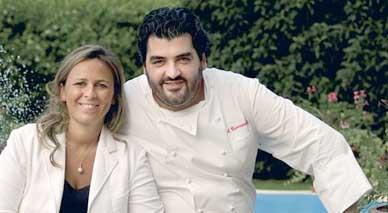 Antonino Cannavacciuolo con la moglie Cinzia Primatesta