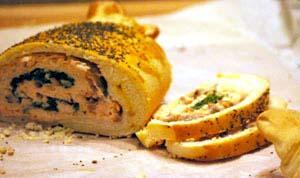 Rotolo di salmone e spinaci