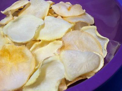 Chips con la mandolina