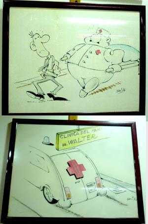 Alcuni disegni donati da studenti americani al Doctor Walter