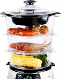 Cuocere con vaporiera alimenti diversi