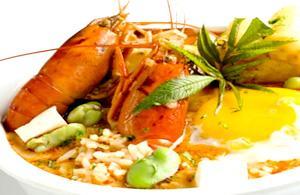 Chupe. Zuppa di pesce peruviana