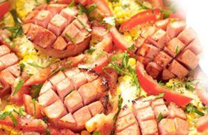 Falukorv, salsiccia svedese al forno