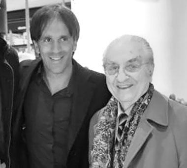 Davide Oldani con il maestro Gualtiero Marchesi