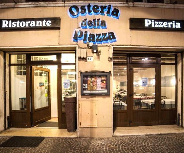 Osteria della piazza. Chef Elis Marchetti