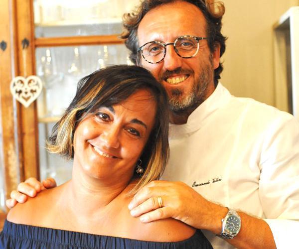 Emanuele Vallini con la moglie Ornella