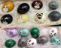 Uova di quaglia decorate