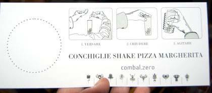 Shake pizza margherita