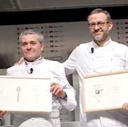 Valentino Marcattilii e Massimo Bottura