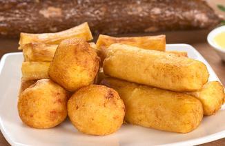 Manioca fritta: Palitos de yuca