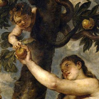 Dipinto: Eva e la mela