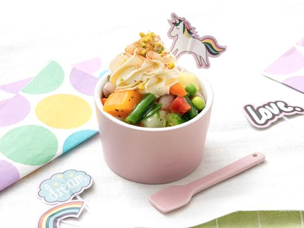Minestrone cup-cake