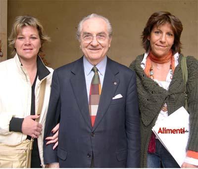 Federica e Nicoletta Spelta con Gualtiero Marchesi