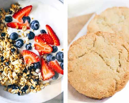 Muesli e biscotti con quinoa