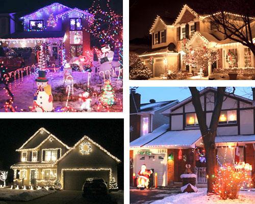 Case illuminate per Natale negli USA
