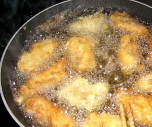 Frittura con olio di arachidi