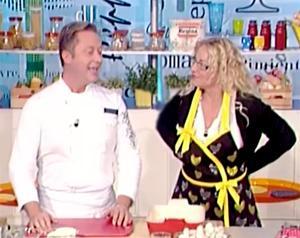 Daniele Persegani con Antonella Clerici