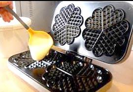 Piastra per cuocere i waffel