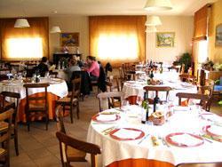 Sala del ristorante Pommeri