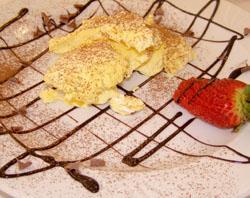 Il semifreddo allo zabaione al ristorante Pommeri