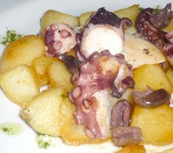 Polpo con patate e olive taggiasche