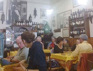 Sala del ristorante Il saraceno