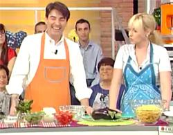 Sergio Barzetti con Antonella Clerici