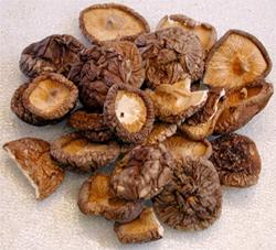 Funghi giapponesi Shiitake essiccati