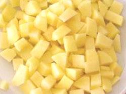 Patate a taglio quadrato